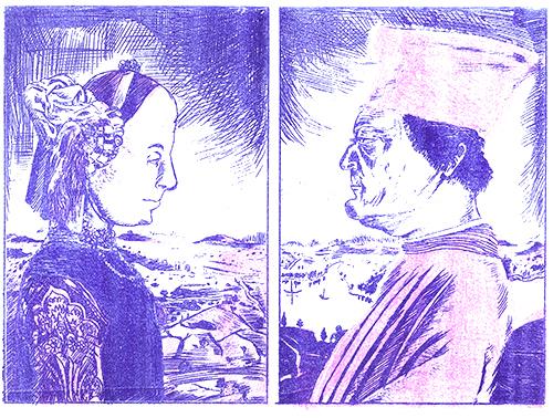 les classiques de la peinture prennent cher en ronéo : federico et sa gonzesse [julien lauber]